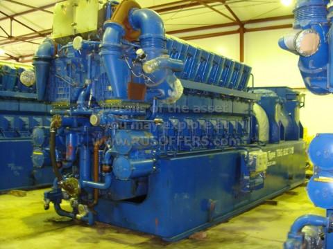 10MWe DEUTZ MWM TBG632V16K [x3] Used Power Plant Natural Gas 1998y 11000V