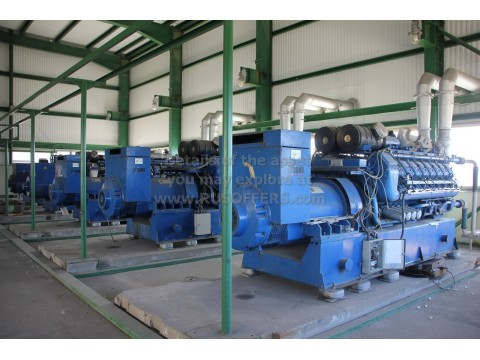 5.868MWe DEUTZ TBG620V16K Used Gensets [x5]  Natural gas 1995y 400V