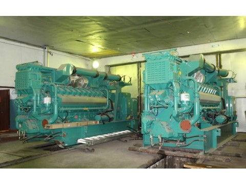3MWe CUMMINS QSV91G 1540 GQNA/C [x2] Surplus new Pre-owned Natural gas Generator sets 2007y 400V
